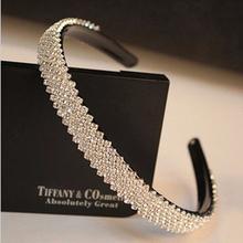 15mm larghezza donne di modo di lusso rhinestone fascia di cristallo hairband nuziale accessori dei capelli wedding hair(China (Mainland))