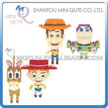 Full Set 2 pcs/lot Mini Qute WISE HAWK kawaii Anime toy story buzz woody cartoon diamond plastic building blocks educational toy