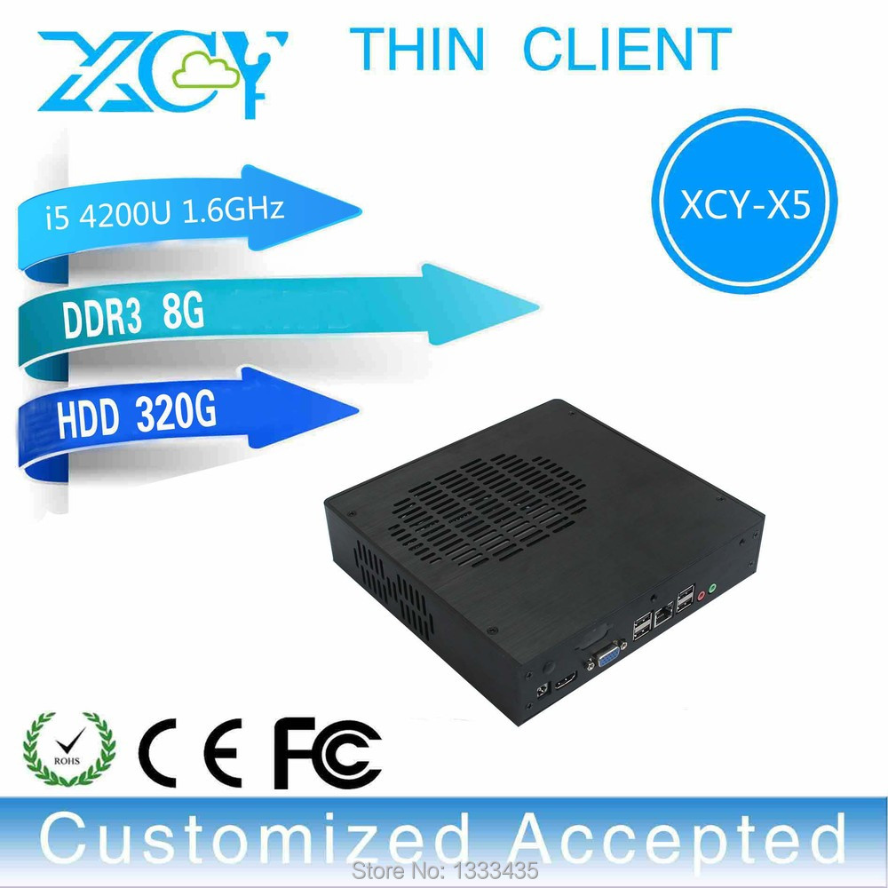 Can OEM/ODM MINI PC Intel Core I5 X5 1.6GHz 8G/320G DUAL CORE Windows 8.1 OS Fan Thin Client Laptop Computer(China (Mainland))