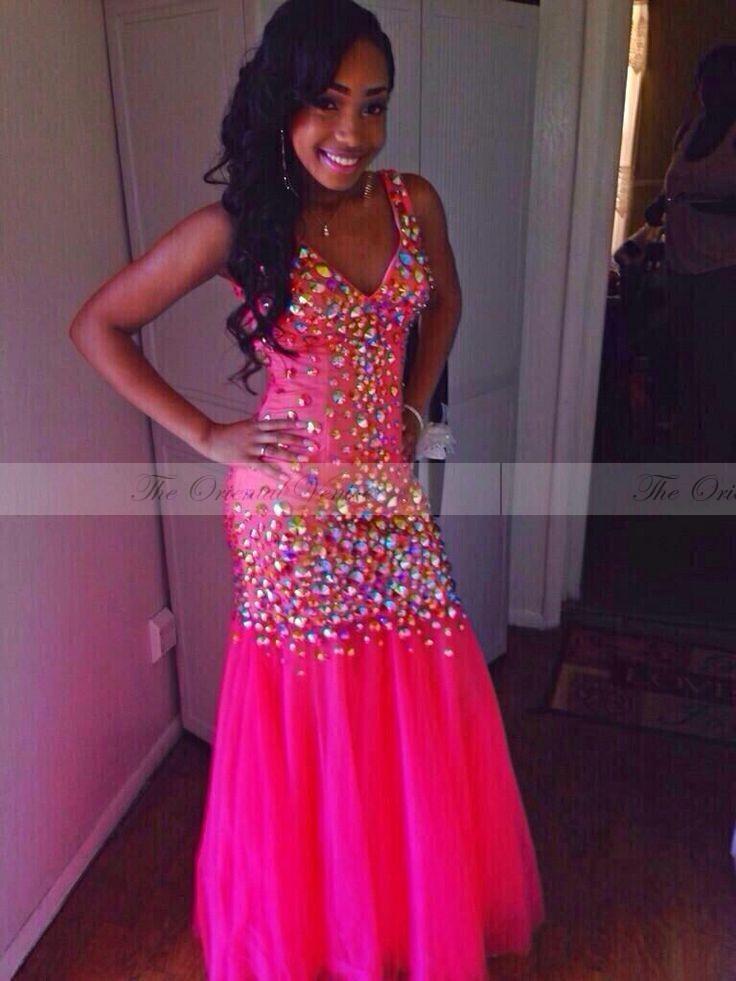 Online Get Cheap Hot Pink Sequin Prom Dress -Aliexpress.com ...
