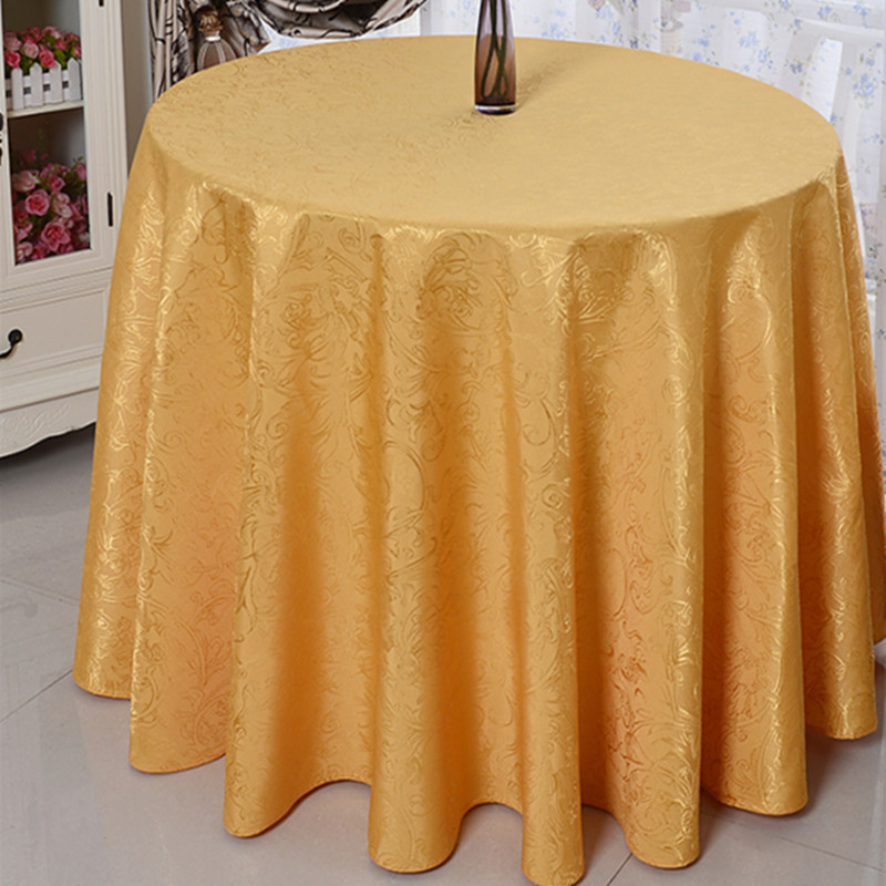 Luxury Ding Table Cloths Rectangular Home Decoration Round Tablecloth Hotel Table Cover Party Wedding Table Linen Gold/Purple(China (Mainland))