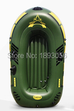 2 Adult 193x115cm Thickened Drifting Boat Factory Directly Canoeing Outdoor Fishing Inflatable Boat Army green Military ship(China (Mainland))