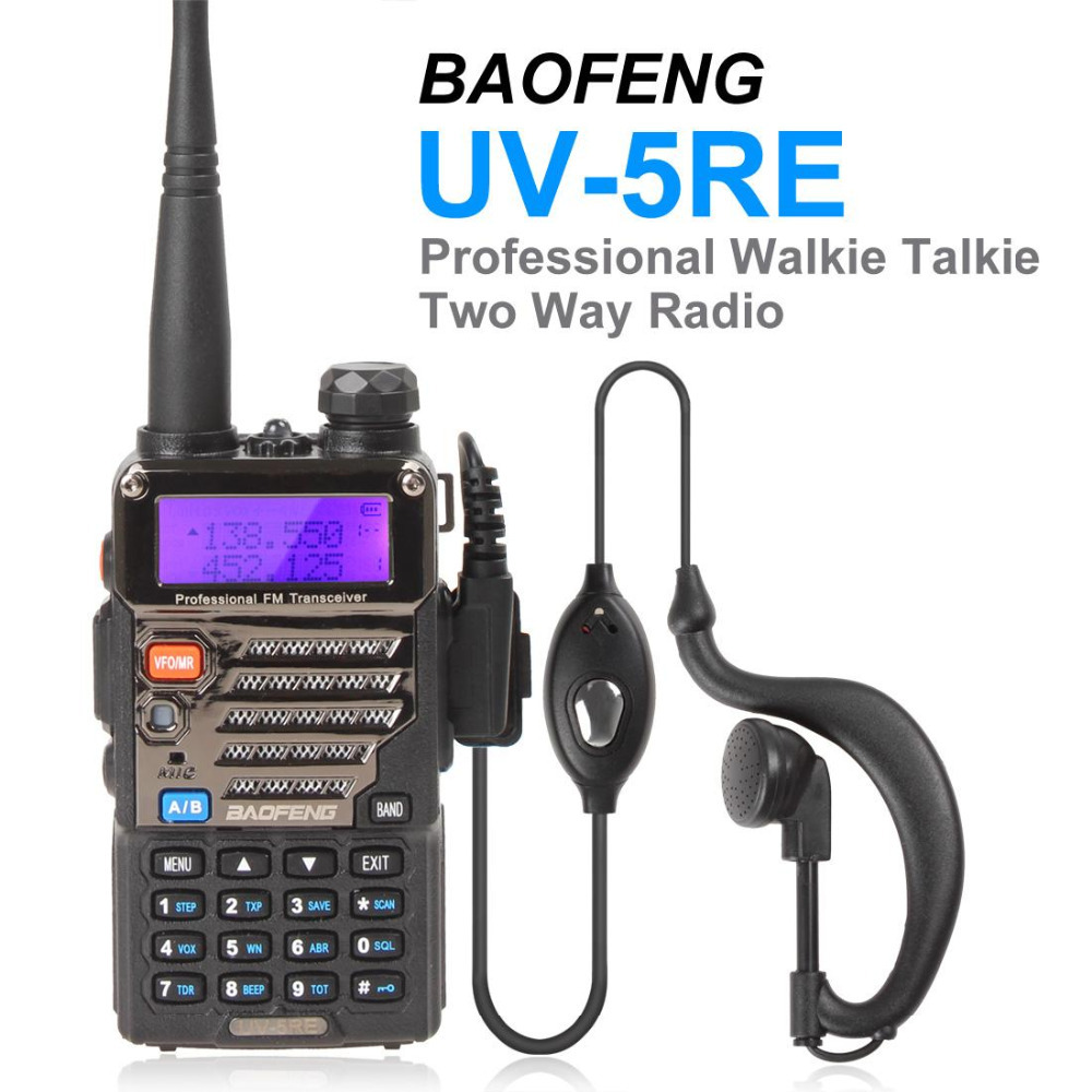 BAOFENG UV-5RE UV-5RE New Version Dual Band UHF VHF Walkie Talkie Two 2 Way Radio Travel 128 Multi Channel FM Transceiver(China (Mainland))