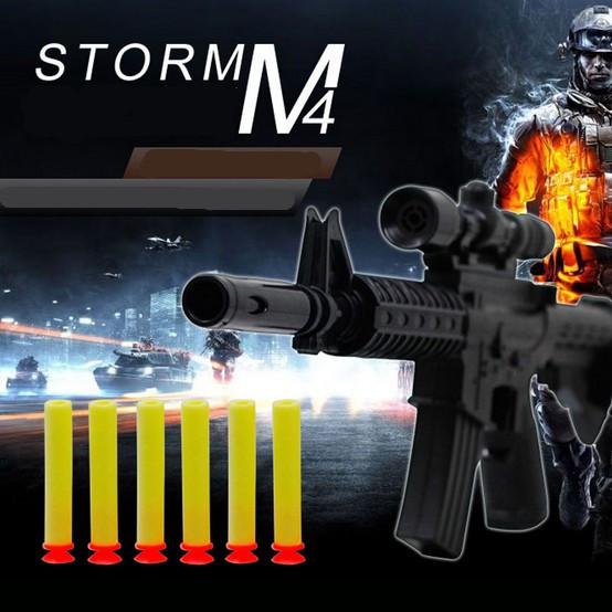 M4A1 assault rifle plastic toy guns with 6 EVA Foam bullets wholesale Imitation guns toys for kids Safe Toys not hurt children(China (Mainland))