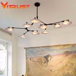 Gold-pendant-lights-deco-hanging-lighting-fixtures-Modern-lindsey-Gold-LED-Pendant-Lamp-Plate-Spinning-Pendant
