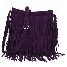 2015 HOT sale New Women s Fringe Messenger Shoulder Bag Handbag Ladies Tassel Crossbody Bag six