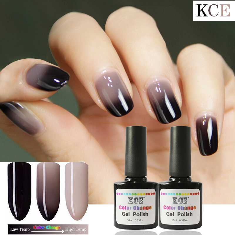 New Product Gel Nail Polish Temperature Change Nail Color UV Gel Polish 7.5ml/pcs Nail Gel for Nail soak off gel polish(China (Mainland))