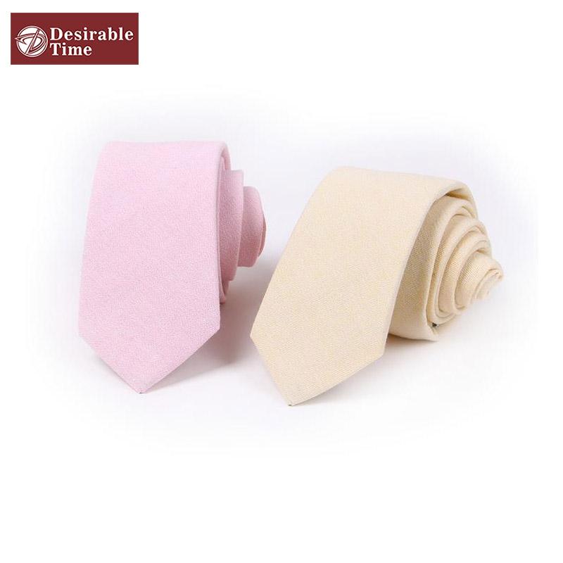 Men's Linen Neck Ties Designer Party Stylish Skinny Men Pink Tie Solid Color Adult Wedding Slim Tie T015(China (Mainland))