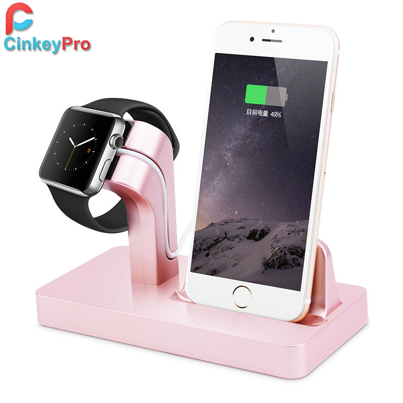 For iPhone 6S PLUS 5S 5C 6 For Apple Watch iWatch Station Smart USB Charging Dock Cradle Stand Holder Charger CinkeyPro