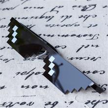 Deal With It Sunlasses 8 Bits Pixel Glasses Men's Women's Sun Glasses Female Male Mirrored Retro