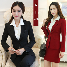 Skirt suit women office ladies skirt suits set High quality plus size 2015 new hot selling ol work wear business elegant female