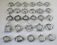 FREE SHIPPING 30 Mixed style silver Watch Face charms/links W2904