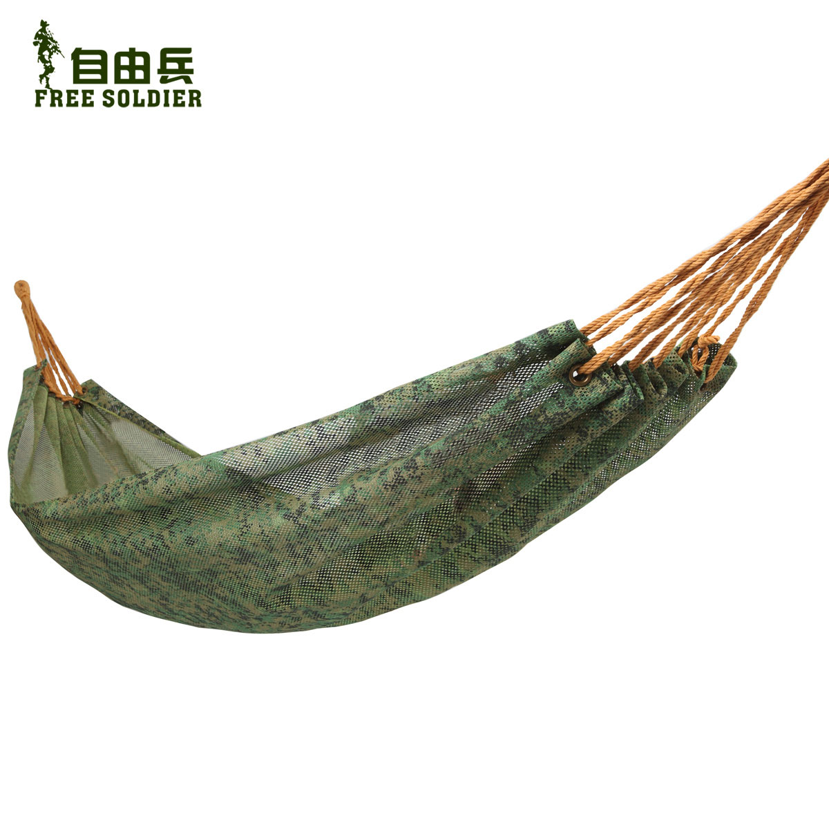 Outdoor Camouflage net camping hammock swing breathable hole hammock double bed lashing()