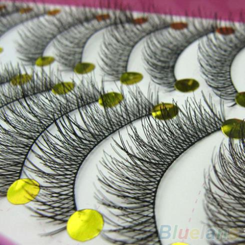 Гаджет  10 Pairs Makeup Beauty False Eyelashes Extension Long Thick Cross Eye Lashes None Красота и здоровье