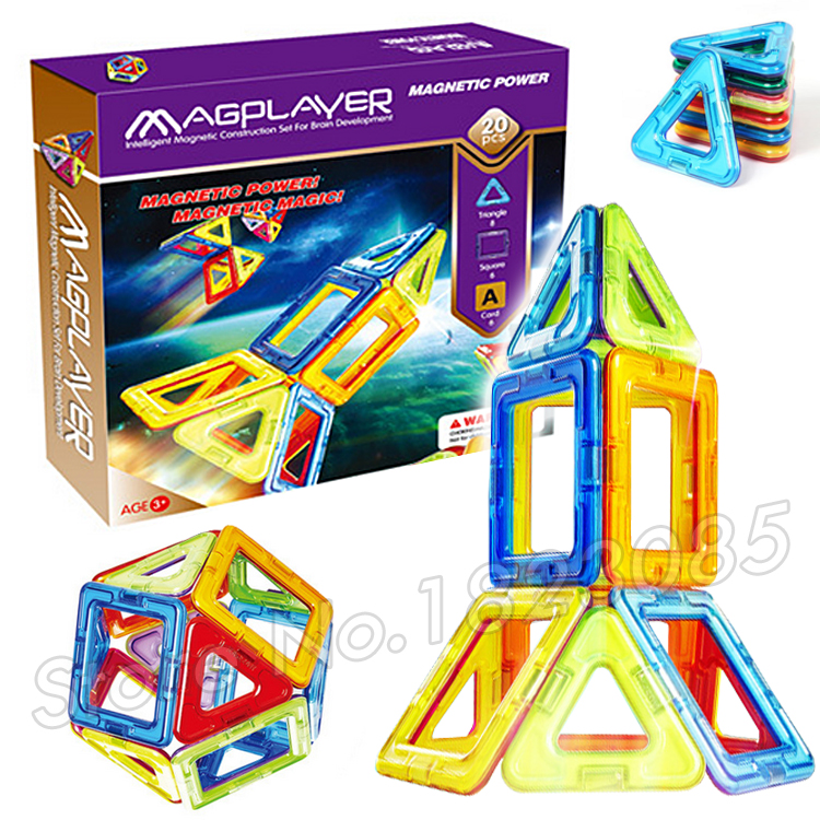 20Pcs/Set Technic Magnetic Assembling Airplane Spaceship ball Model Building Blocks Toys 3D DIY Education Toys Bricks Designer(China (Mainland))