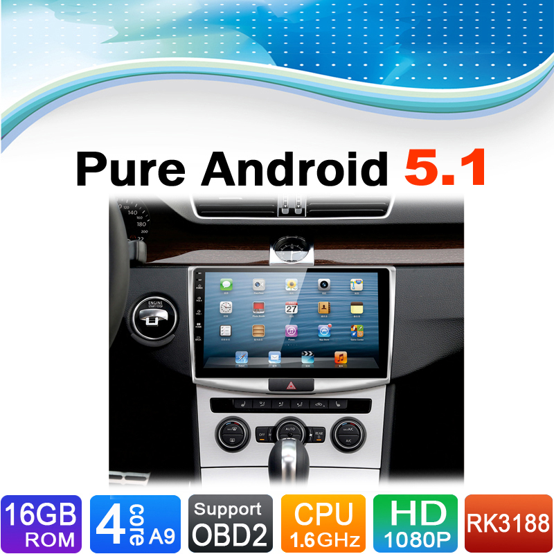 Pure Android 5.1.1 System Car DVD GPS Navigation System for Volkswagen VW Magotan Passat CC B6 B7 2012-2015(China (Mainland))