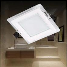 Free shipping 12W LED glass panel light AC85V-265V Kitchen light SMD5730(China (Mainland))