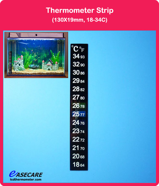 18-34 Celsius and Fahrenheit degree Fish Tank Aquarium Thermometer, Free Shipping by DHL, 1,000pcs/lot(China (Mainland))