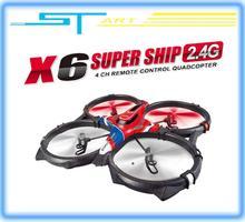 5pcs/lot Syma X6 Super Ship 2.4G 4CH 3D Continuous roll RC Quadcopter RTF VS U816A U818A Drone FPV X350 pro EMS Free Sh toy gift