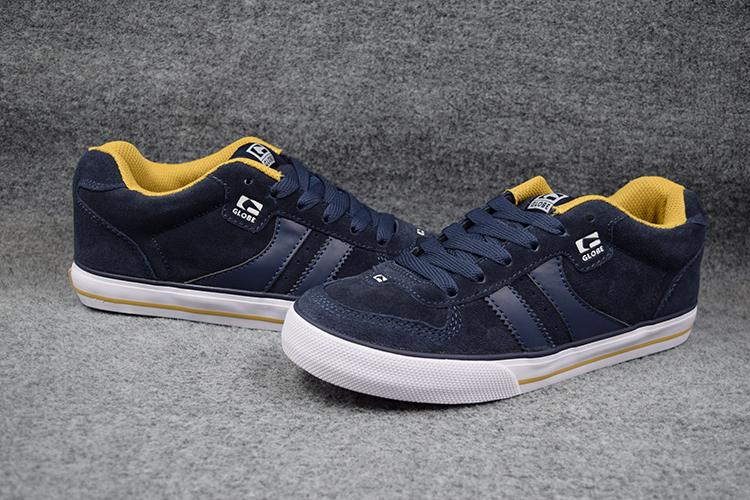 Фотография 2016 Fashionable Boys GLOBE ENCORE-2 Board Shoes NAVY Anti-Fur Street Shock-Absorbant Footwear  Available