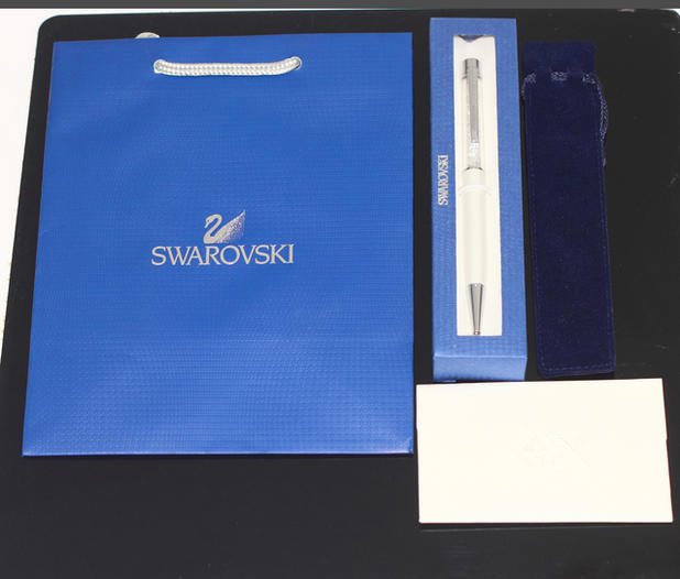 New 2016 Swarovski crystal pen Ballpoint pen with brand gift bag package box case For promotion office supplier roller ball pen(China (Mainland))