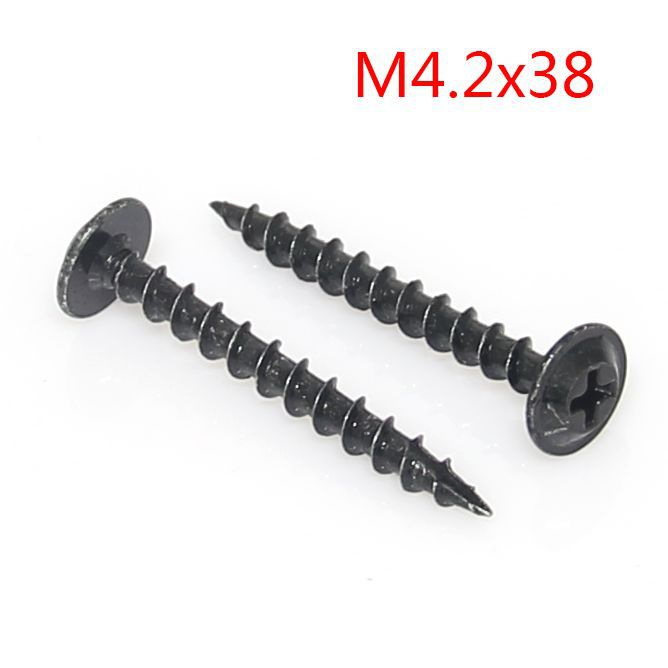 Hard black zinc plated Granville flat head wood screw washer head self tapping screws screw m4.2 * 38 Shank<br><br>Aliexpress