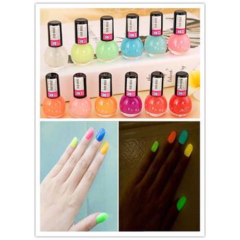 Фосфоресцирующий 12 милые конфеты цвета флуоресцентный световой ногтей для свеча темный эмаль продвижение лучшего