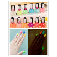 Noctilucous 12 Cute Candy Colors Fluorescent Neon Luminous Nail Art Polish Glow Dark Enamel Promotion Best