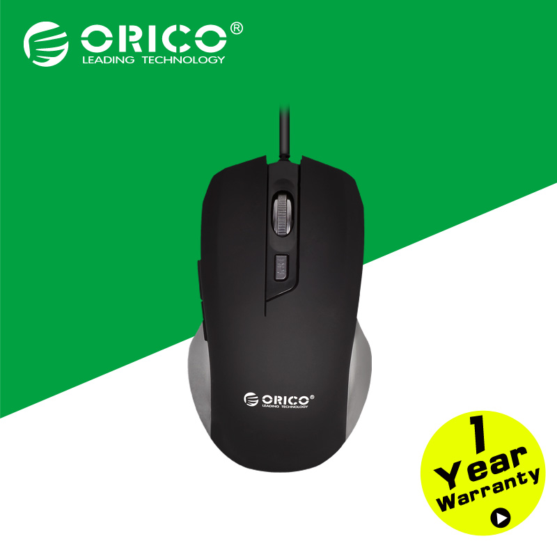 Гаджет  ORICO MSW16 Wired Mouse Game Mouse Laser Mouse for Notebook Desktop PC-Black None Компьютер & сеть