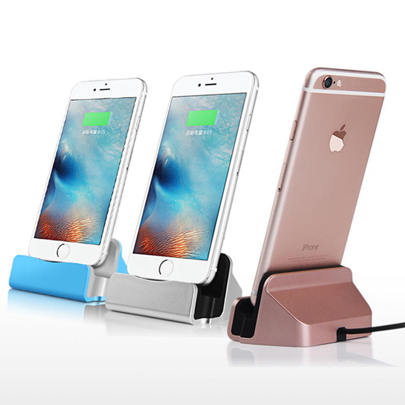 Best Selling Sync Data Charging Dock Station Cellphone Desktop Docking Charger & USB Cable For Apple iPhone 5 5S 5C 6 6 Plus(China (Mainland))