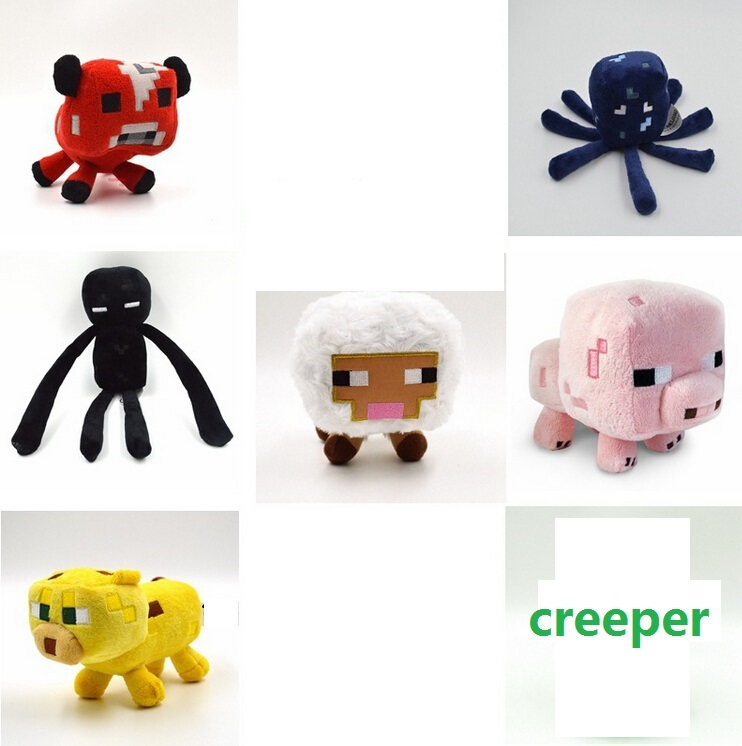 Minecraft plush toy 7pcs/lot Brinquedos Game Toys Cheapest Sale High Quality Plush Toys Cartoon Game Toys(China (Mainland))