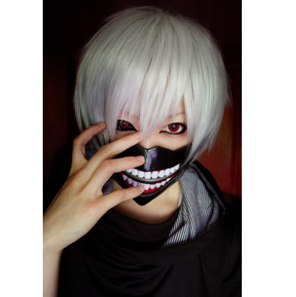 wig Yiwu wig Tokyo ghouls Basic research for cosplay wig silvery white(China (Mainland))