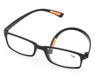 New fashion male female unisex reading glasses tr90 TR light man woman presbyopic glasses frame soft black free shipping