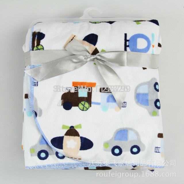 Осенью и зимой утолщение короткая плюшевая ребенок двойной слой одеяла экологичный ...
