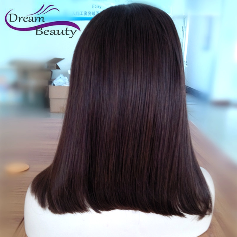 Short Human Hair Wigs Silky Straight Lace Front Human Hair Bob Wigs For Black Women Unprocessed 150% Brazilian Full Lace Wigs