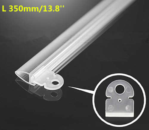 L35cm Plastic PVC Poster Folder Clamp Strip Extruded Clip Display Banner Holder For Shop Ceiling Hanging System 20 sets(China (Mainland))