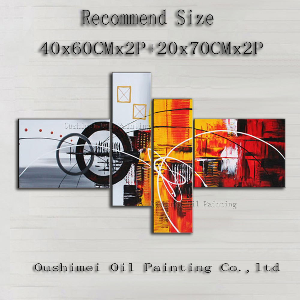 Free Shipping Multiple Combination Abstract Oil Painting On Canvas Hand-painted Canvas Abstract Decorative Oil Painting(China (Mainland))