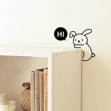 2015 Cartoon Animal Cute Hi Rabbit Removable Art Vinyl Light Switch Sticker Home Wall Decal Window Decoration(China (Mainland))