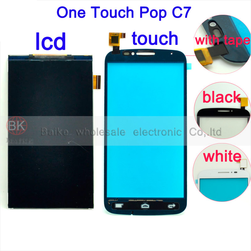 100% Guarantee Touch Screen Digitizer Alcatel One POP C7 Dual 7040E 7041D 7040A 7040 7041 OT7040 Lcd Display  -  Baike electronic Co,.ltd store
