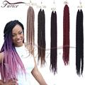 New Fashion Braided Hair Styles Black Human Havana MamboTwist 12 to24IN Crochet Hair Wavy Hair 12Strands FreeDreadlock Beads