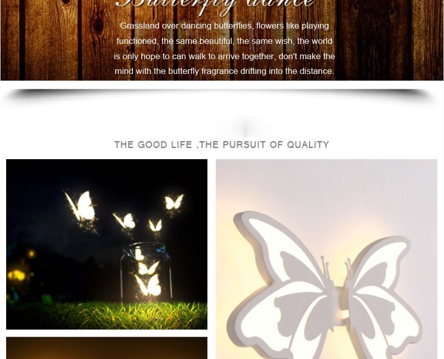 Купить Современные СВЕТОДИОДНЫЕ Настенные Светильники с бабочка абажур Для Ванной Спальни 24 Вт Бра Белый Внутреннего Освещения лампы арильного