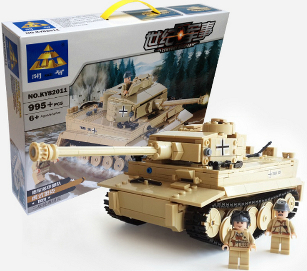 Model building kits compatible lego Tiger Tank 3D blocks Educational model toys hobbies children  -  X & T TOY CITY store