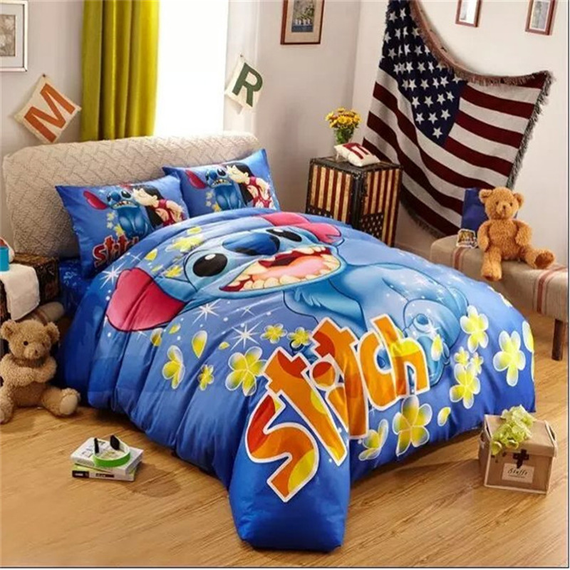 Smile Stitch Bed Set Modern Duvet Cheap Duvet Cover Twin Queen Size Wholesale(China (Mainland))