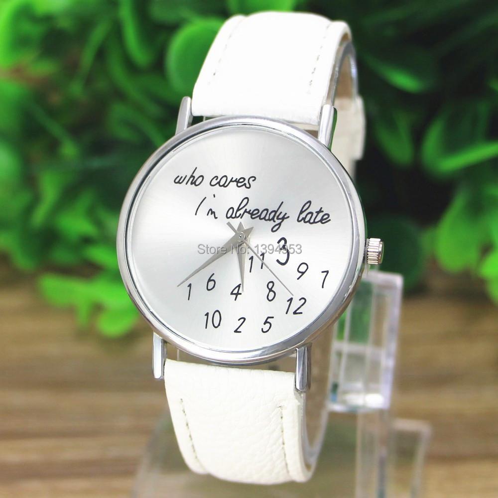 2016 Who Cares I m Already Late Irregular Figure High Quality Women Wristwatch Fashion Watches Quartz