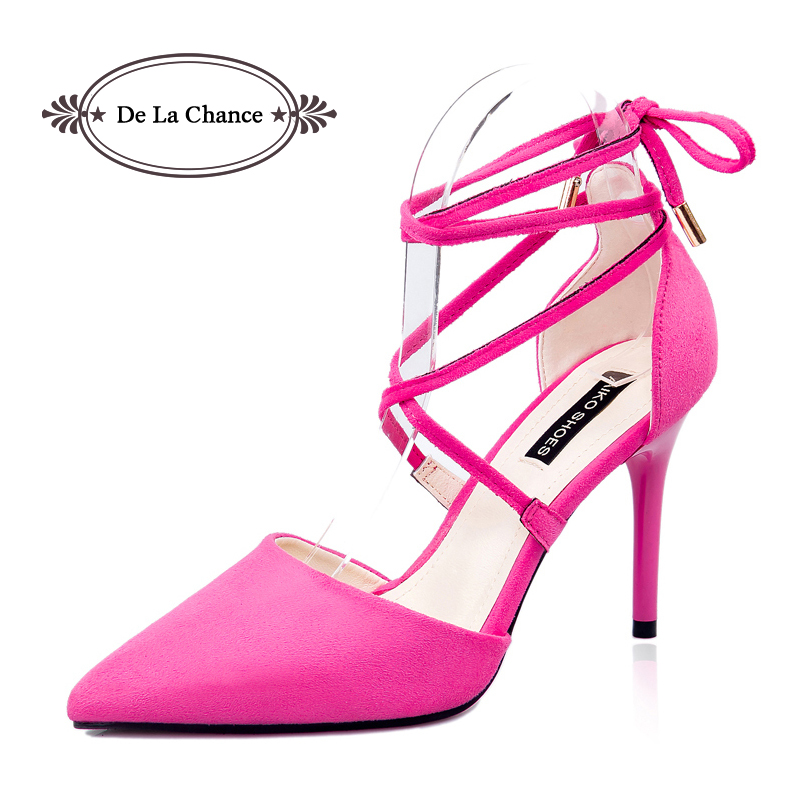 black pink grey strappy stiletto high heels