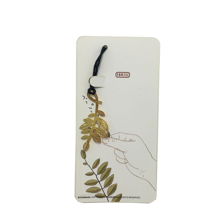 Kawaii Gold Metal Bookmark Olive Leaf Bookmarks Paper Clip For Book Gifts Creative Book Marks Free Shipping(China (Mainland))