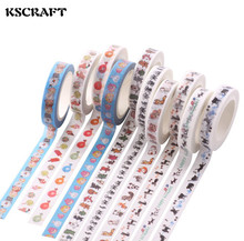 Buy KSCRAFT 8mm*7m Adhesive Tape Scrapbooking DIY Craft Sticky Deco Masking Japanese Paper Washi Tape Multicolour for $1.29 in AliExpress store