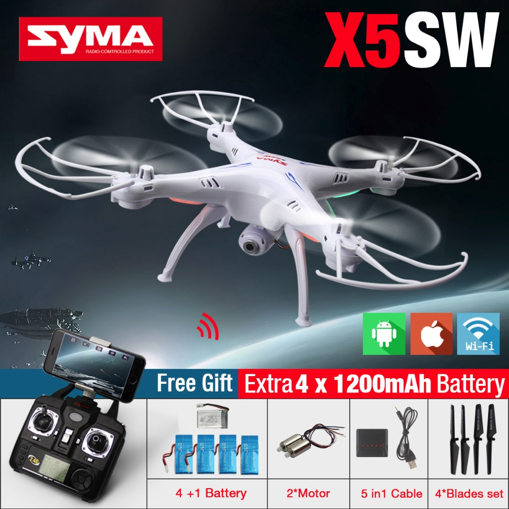 High-Quality SYMA X5SW FPV RC Quadcopter Drone With WIFI Camera HD 2.4G 6-Axis Drones RC Helicopter With VS MJX X101(China (Mainland))