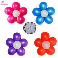 Buy HEY FUNNY 20pcs/lot 10 hole make flower Seal Clip Multi Balloon Sticks Ballon Accessories Plum Flower Clip Practical Party Decor for $2.24 in AliExpress store