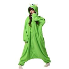 Бесплатная доставка 2015 хеллоуин костюм печенья одноглазый монстр Onesie костюмы животных пижамы женщин мужчины взрослых косплей аниме комплект